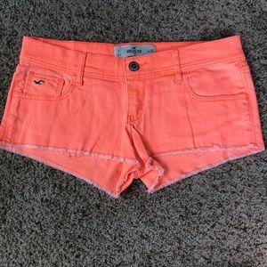 Hollister neon orange shorts